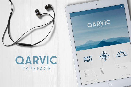 QARVIC5 typeface