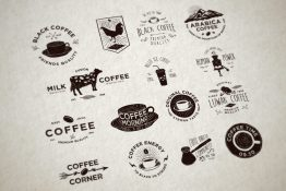 coffee badges vector