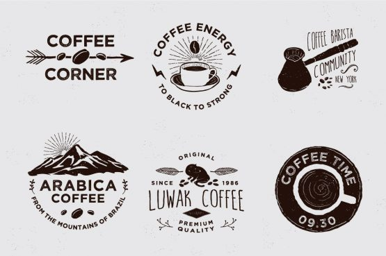 coffee badges vector