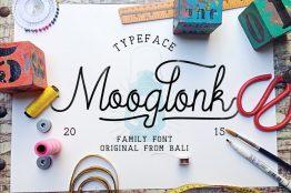 Mooglonk typeface