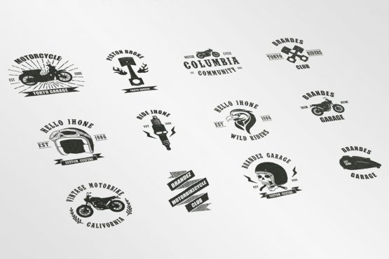 motorbikecycle badges