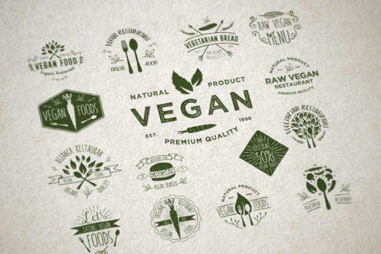 vegan badges vector