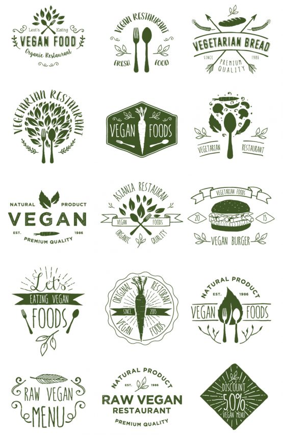 vegan badges