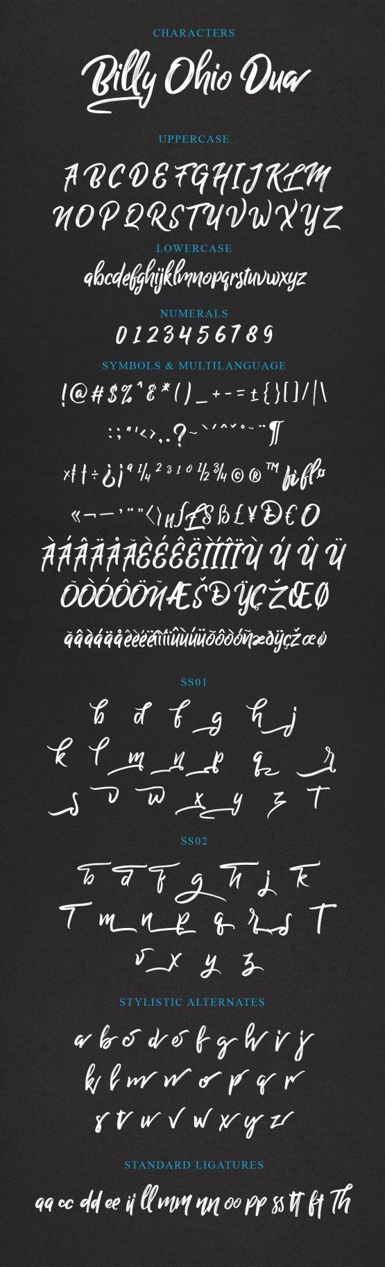 Billy Ohio Dua Typeface