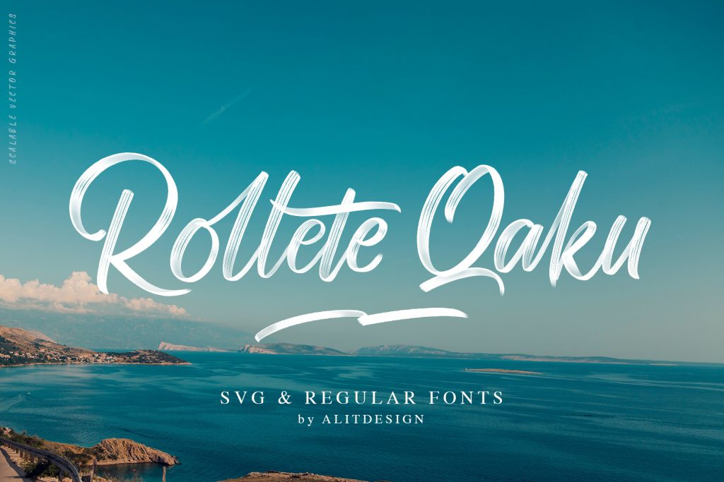 Rollete Qaku SVG fonts