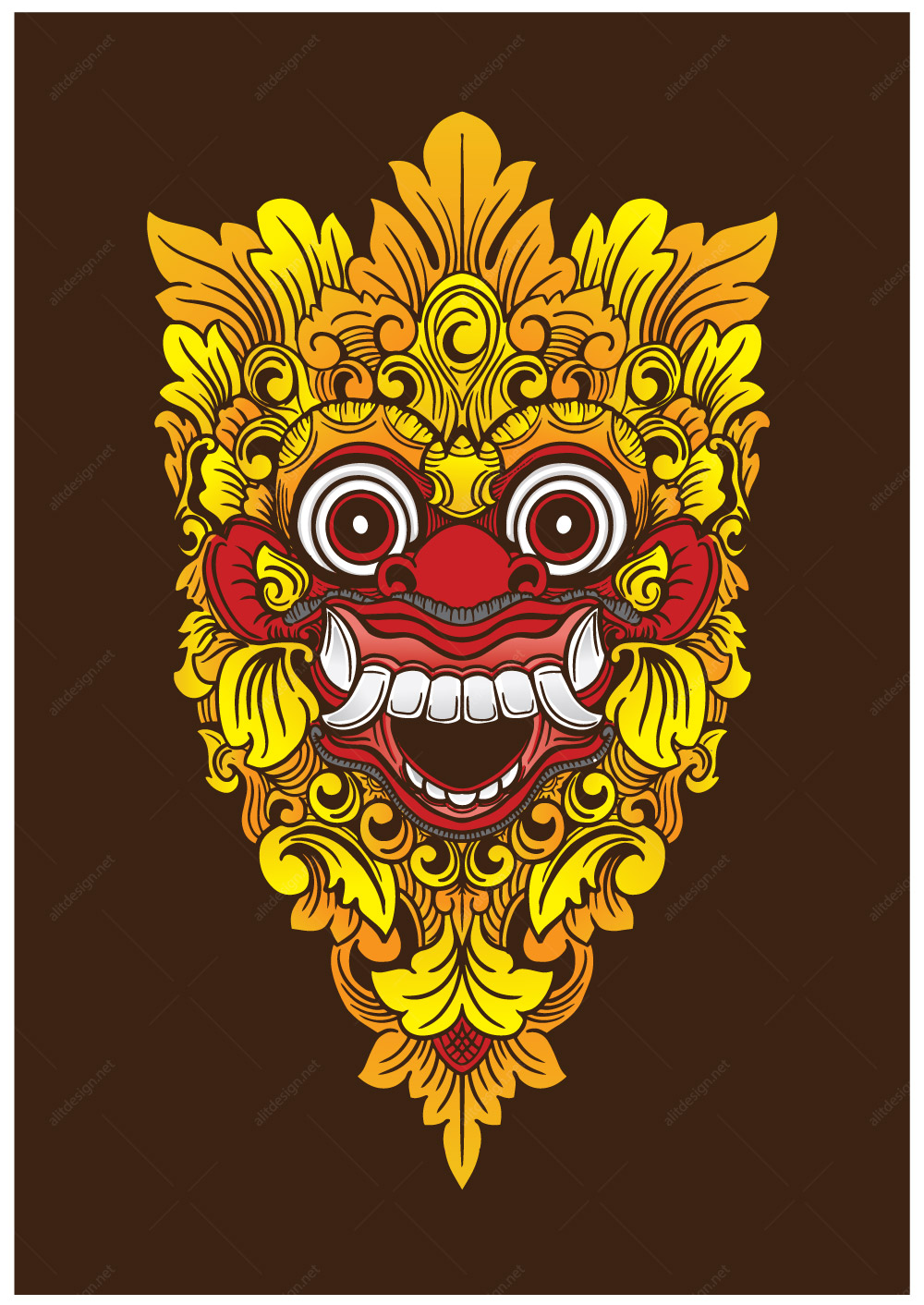 barong mask vector color alit design barong mask vector color alit design