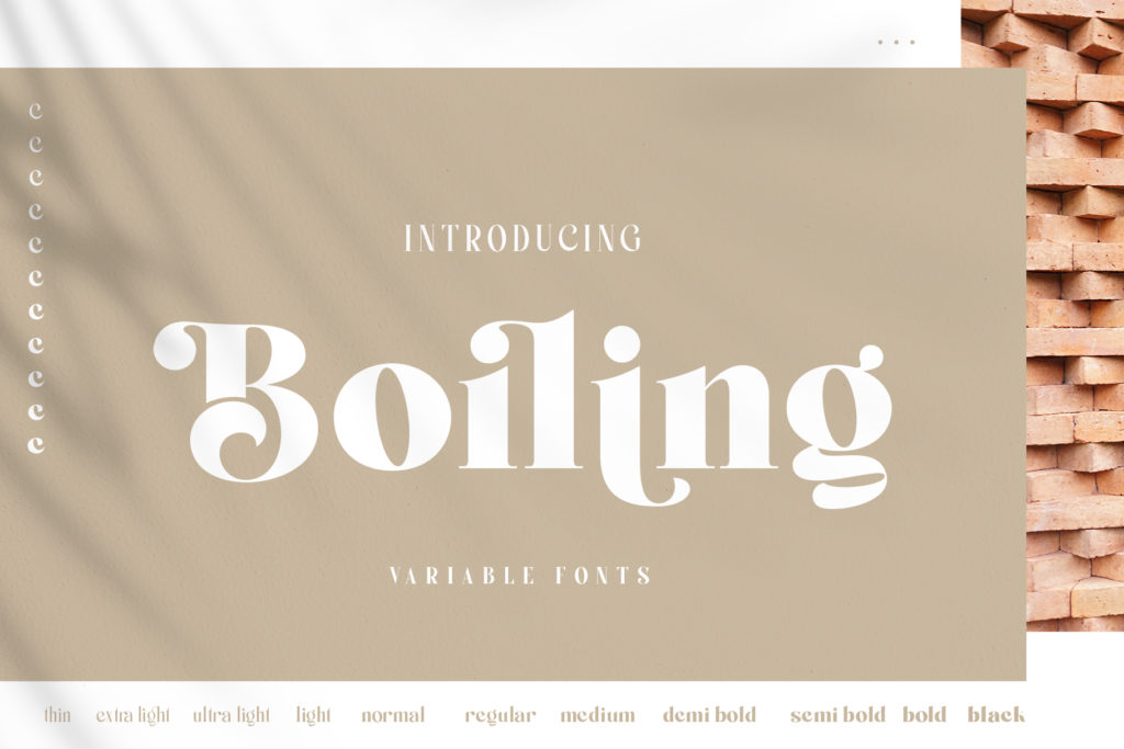 Boiling Variable Font